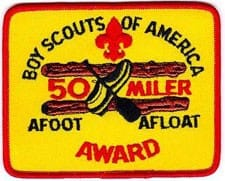 the 50 Miles a float badge